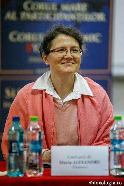 """conf. dr. Maria Alexandru de la Universitatea """"Aristotel"""" din Salonic – Grecia, membră a comitetului științific al IBMF / foto: pr. Silviu Cluci"""